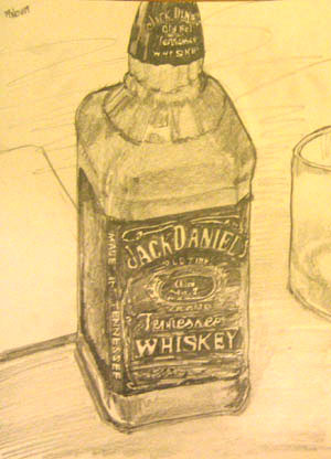 Jack Daniel's Bottle Sketch
