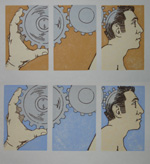 Drive Series of Woodblock Prints