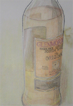 Glenmorangie Bottle - Ink and Colored Pencil