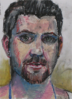 I even draw myself - Oil Pastel Sketch