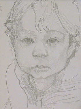 sketch of young boy