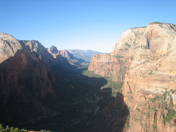 View Down Canyon from Angels Landing