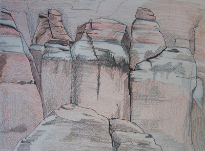 Fiery Furnace Drawing Arches National Park