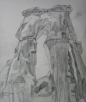 Pencil sketch of Druid Arch