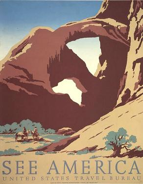 Arches National Park Vintage Travel Poster